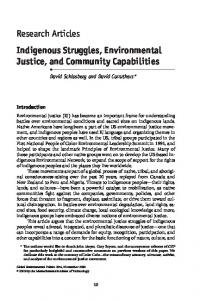 Research Articles Indigenous Struggles, Environmental Justice, and