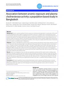 Research Association between arsenic exposure and plasma