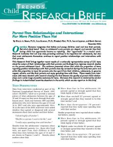 research brief - Child Trends