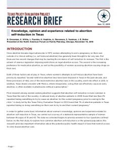 research brief - UT College of Liberal Arts