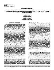 research briefs ceo managerial skills and cost of equity capital