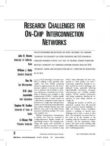 research challenges for on-chip interconnection ... - ECE UC Davis