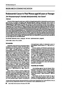 RESEARCH COMMUNICATION Endometrial Cancer in Thai Women ...