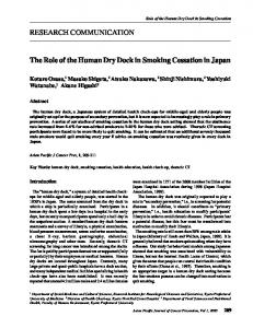 RESEARCH COMMUNICATION The Role of the Human Dry Dock in ...