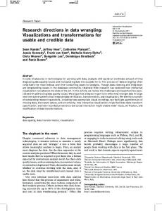 Research directions in data wrangling - University of Maryland