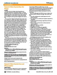 Research Ethics Boards - PLOS