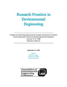 Research Frontiers in Environmental Engineering - AEESP Foundation