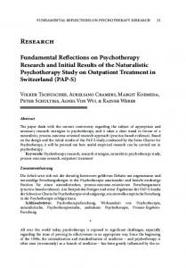 research fundamental reflections on
