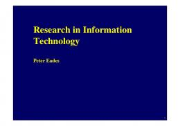 Research in Information Technology