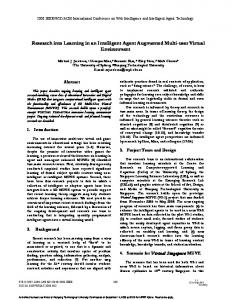 Research into Learning in an Intelligent Agent ... - Semantic Scholar