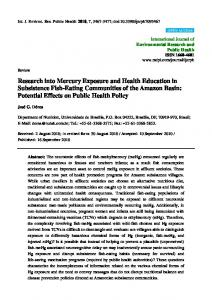 Research into Mercury Exposure and Health ... - Semantic Scholar