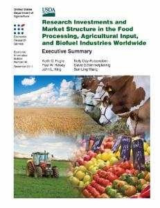 Research Investments and Market Structure in the Food ... - USDA ERS