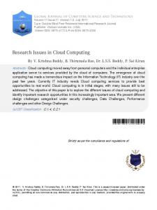 Research Issues in Cloud Computing - Semantic Scholar
