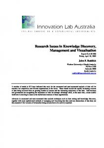 Research Issues in Knowledge Discovery ... - Semantic Scholar
