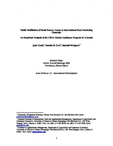 Research Methodology - AgEcon Search