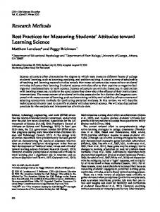 Research Methods Best Practices for Measuring ... - BioMedSearch