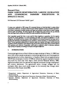 Research Note: FARM LABOUR REMUNERATION, LABOUR ... - Core
