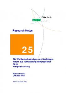 Research Notes - DIW Berlin