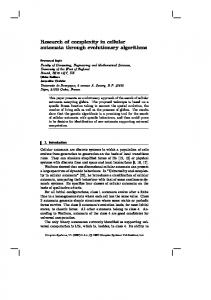 Research of complexity in cellular automata ... - Semantic Scholar