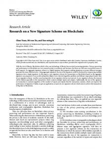 Research on a New Signature Scheme on Blockchain