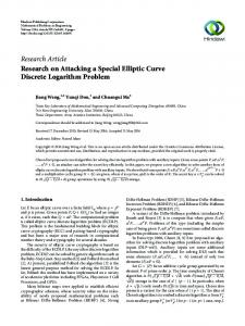 Research on Attacking a Special Elliptic Curve Discrete Logarithm