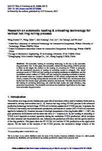 Research on automatic loading \&\; unloading technology for ...