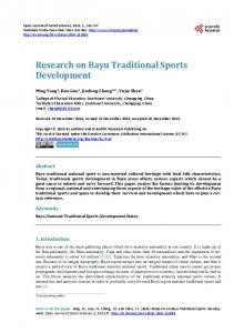 Research on Bayu Traditional Sports Development - Scientific ...