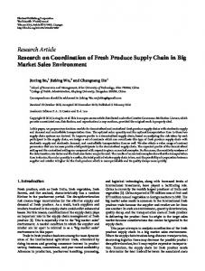 Research on Coordination of Fresh Produce Supply Chain in Big