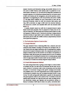 Research on Credit Risk Assessment of Small and Medium ...www.researchgate.net › publication › fulltext › 32914879