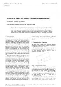 Research on Goods and the Ship Interaction Based on ADAMS