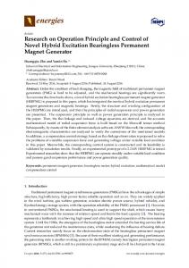 Research on Operation Principle and Control of Novel Hybrid ... - MDPI