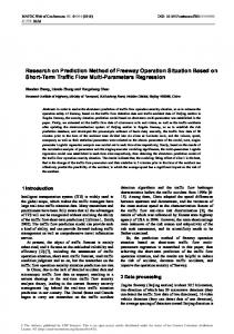 Research on Prediction Method of Freeway Operation Situation Based ...