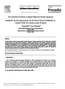 Research on the Application of Artificial Neural Networks in ... - Core