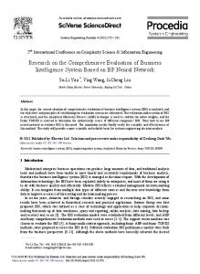 Research on the Comprehensive Evaluation of ... - ScienceDirect