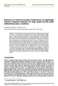 Research on Thermal Insulation Performance of Lightweight Thermal ...