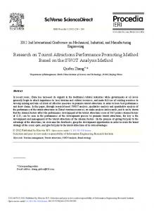 Research on Tourist Attractions Performance ... - Science Direct