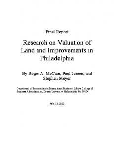 Research on Valuation of Land and Improvements in ... - CiteSeerX