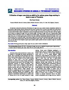 RESEARCH OPINIONS IN ANIMAL & VETERINARY SCIENCES - roavs