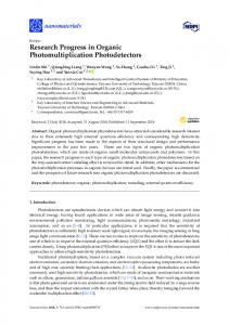 Research Progress in Organic Photomultiplication Photodetectors