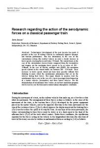 Research regarding the action of the aerodynamic forces on a ...