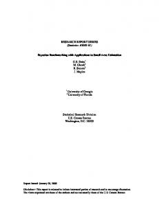 RESEARCH REPORT SERIES (Statistics #2009-01 ... - Census Bureau