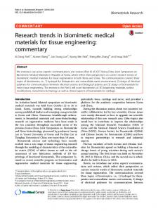 Research trends in biomimetic medical materials for ... - Springer Link