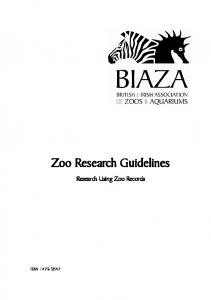 Research Using Zoo Records - Wingham Wildlife Park