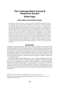 Researcher Summit White Paper - International Society of Arboriculture