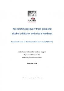 Researching recovery from drug and alcohol addiction with ... - CLoK
