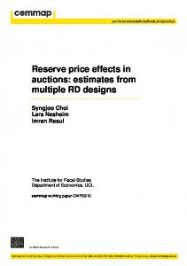 Reserve price effects in auctions: estimates from multiple ... - Cemmap