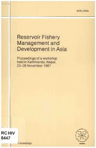 Reservoir Fishery Management and Development in