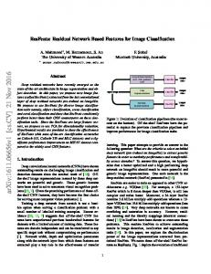 ResFeats: Residual Network Based Features for Image Classification