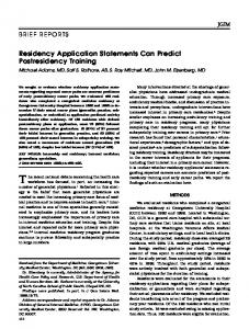Residency Application Statements Can Predict ... - Wiley Online Library