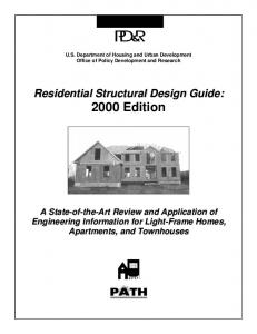 Residential Structural Design Guide: 2000 Edition - HUD User